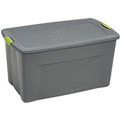 Sterilite Industry Wheeled Storage Tote With Latch, 19483V04, 45 Gallon 36-1/2 X 21 X 19-1/2, Gray - Pkg Qty 4