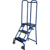 "Ballymore 3 Step 10"" Deep Step Lock-N-Stock Folding Aluminum Ladder"