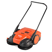 "Haaga® 31"" Battery powered Triple Brush Push Power Sweeper"