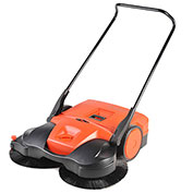 "Haaga® 38"" Battery powered Triple Brush Push Power Sweeper"
