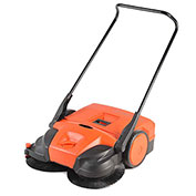 "Haaga® 31"" Deluxe Triple Brush Push Power Sweeper"
