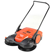 "Haaga® 38"" Deluxe Triple Brush Push Power Sweeper"