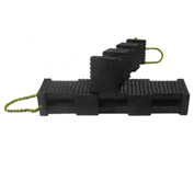 "AME International Super Stacker Cribbing Block, 4""X4""X18"", Black"