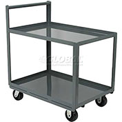 "AKRO-MILS Steel Shelf Cart 30x48 2 Lip Down Straight Handle 5"" Polyolefin"