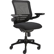 Multi-Function Mesh Back Ergonomic Chair with Flip-Up Arms, Black