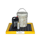 "Poly-Spill Pad With Grate, 48"" x 24"" x 2"""