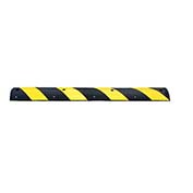 "GNR Technologies 24111 GNR® Easy Rider® Yellow-Striped Parking Lot Speed Bump - 48""L"