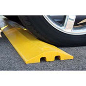 "Plastics-R-Unique 21096SBY Yellow Speed Bump with Cable Protection & Hardware - 96"" Long"