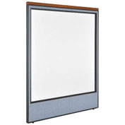 "60-1/4""W x 73-1/2""H Deluxe Office Partition Panel with Full Window, Blue"