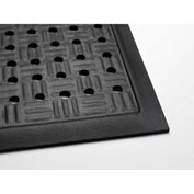 Cushion Station Anti-Fatigue Mat, Black, 3-1/5'x 12-1/3'
