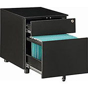 2 Drawer Pedestal, Black