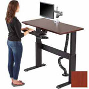 """Rightangle Eficiente Lt Electric Height Adjustable Desk, Cherry W/Black Base, 24""""X48"""""""