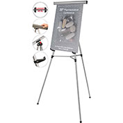 MasterVision 3-Leg Lightweight Telescoping Display Easel, Silver