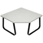 "Corner Coffee Table, Gray Top, 30"" x 30"""