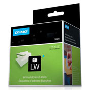 "DYMO® LW Address Labels, Black on White, 1 1/8"" x 3 1/2"""