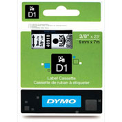 "DYMO® D1 3/8"" Tape Black on Clear"