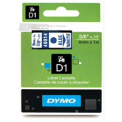 DYMO® D1 Standard Labels, Blue on White, 3/8""