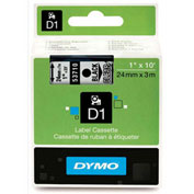 "DYMO® D1 1"" Tape Black on Clear"
