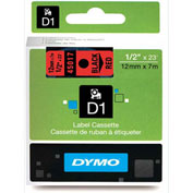 "DYMO® D1 1/2"" Tape Black on Red"