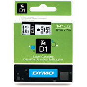 "DYMO® D1 1/4"" Tape Black on White"