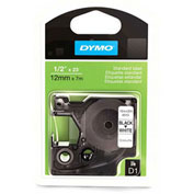 DYMO® D1 Black on White, 3/4 Inch Tape