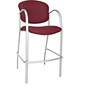 Contract Cafe Height Chair - Burgundy