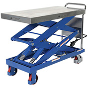 Vestil CART-1500-D-TS 47 x 24 Hydraulic Elevating Cart, 1500 Lb. Cap.""