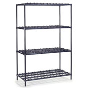 "Nexel Heavy Duty Wire Shelving, 24""W x 18""D x 74""H"