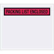 "7"" x 6"" Red Document Envelopes, 1000 Pack"
