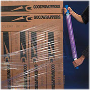 """Goodwrappers Stretch Wrap, 30"""" x 1000' x 80 Gauge with Dispenser, Purple, 4 Pack"""