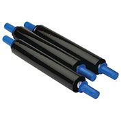 """Goodwrappers Stretch Wrap, 30"""" x 1000' x 80 Gauge with Dispenser, Black, 4 Pack"""