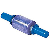 """Goodwrappers Stretch Wrap, 5"""" x 1000' x 80 Gauge with Dispenser, Purple"""