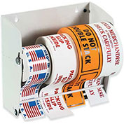 "2-1/2"" x 2-1/2"" Wall Mountable Label Dispenser, Holds 7"" Diameter Rolls"