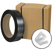 "Jumbo Postal Approved Poly Strapping Kit 1/2"" x 9,000' Coil, Cutter & 1,000 Buckles"
