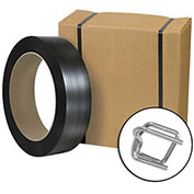 "Poly Strapping Kit 1/2"" x 3,000' Coil, Cutter & 300 Buckles"