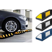 Tapco® 1485-00014   Rubber Vehicle Stop 6'L, Asphalt Installation, Black with White Stripes