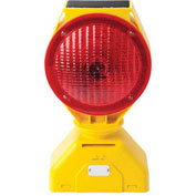Tapco Individual Solar LED Barricade Light, Red, 3-Way On/Off Switch