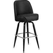 Vinyl Bar Stool with Swivel Bucket Seat