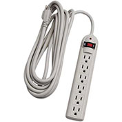 6 Outlet Surge Strip With 15' Cord, Beige