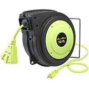 Legacy Zillareel 50' 14-3 AWG Electrical Cord Reel Retractable Spring Driven, E8140503