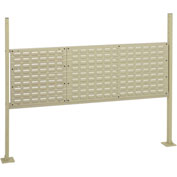 "18""W Pegboard and 36""W Louver Mounting Kit for 60""W Workbench - Tan"