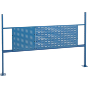 "18""W Pegboard and 36""W Louver Mounting Kit for 72""W Workbench- Blue"