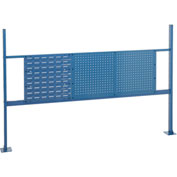 """18""""W Louver and 36""""W Pegboard Mounting Kit for 72""""W Workbench - Blue"""