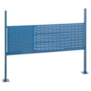 "18""W Pegboard and 36""W Louver Mounting Kit for 60""W Workbench - Blue"