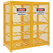 Storage Cabinet Double Door Horizontal, 16 Cylinder Capacity, Assembled