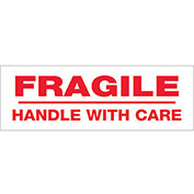 "2""x55 Yds Printed Carton Sealing Tape ""Fragile Handle With Care"", Red/White, 18/PACK - Pkg Qty 18"