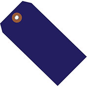 "4-3/4""x2-3/8"" Plastic Shipping Tag, Blue, 100 Pack"