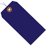 "4-3/4""x2-3/8"" Plastic Shipping Tag Pre-Wired, Blue, 100 Pack"