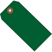 "4-3/4""x2-3/8"" Plastic Shipping Tag, Green, 100 Pack"