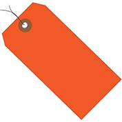"4-3/4""x2-3/8"" Plastic Shipping Tag Pre-Wired, Orange, 100 Pack"